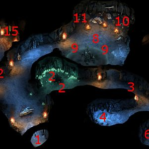 Flames-That-Whisper Upper Caves Map