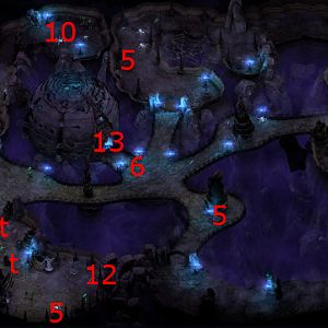 Luminescent Caves Map