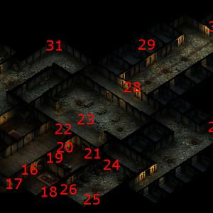 Sanitarium Basement Map