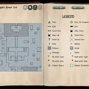 Bard's Tale 1 Remastered - Mangar's Tower, Level 5 Map