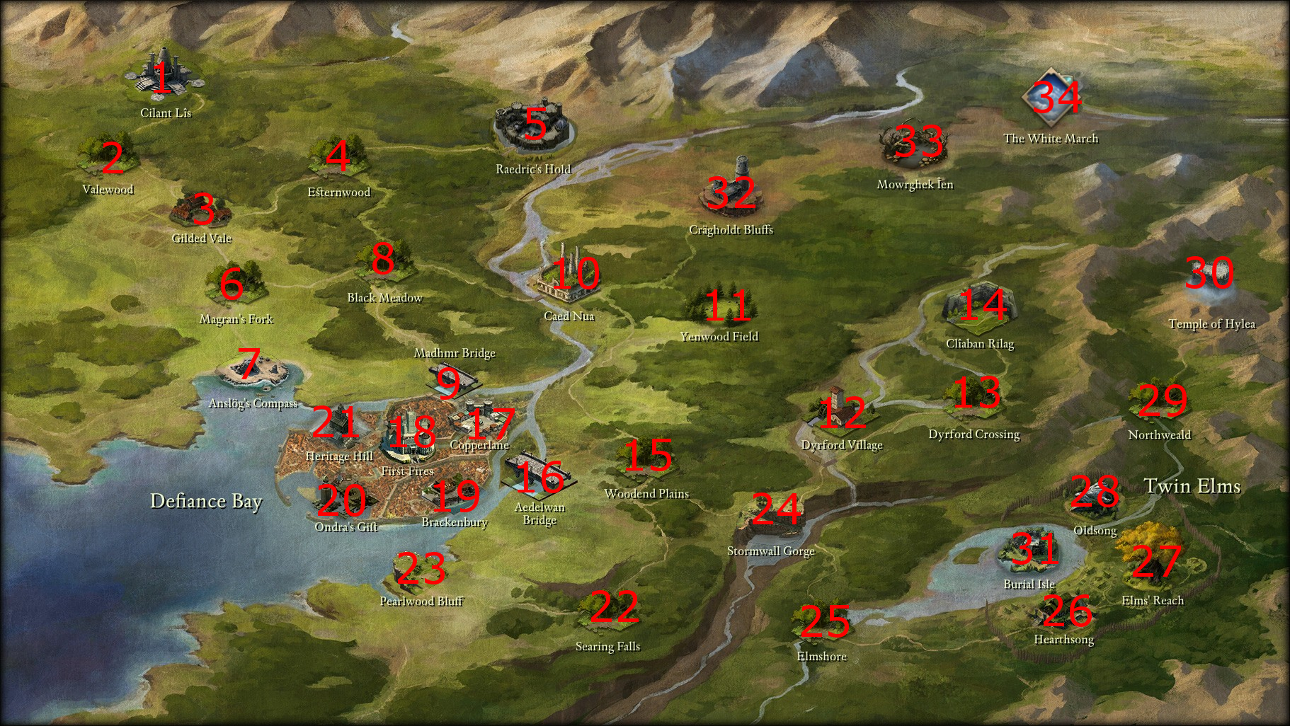 Pillars of Eternity World Map | Boards o' Magick   The Stuff of